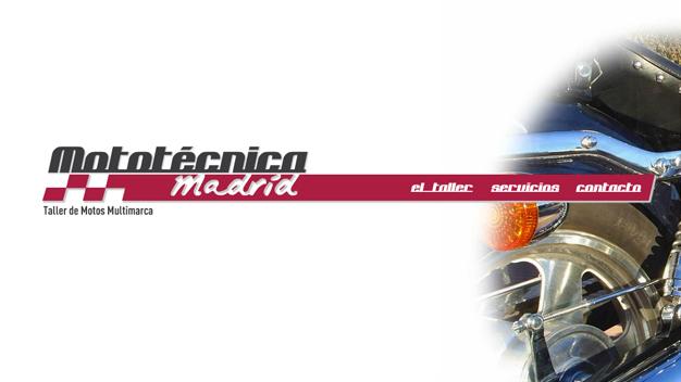 Sitio web Mototécnica Madrid
