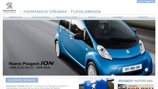 Sitio web Peugeot Hermanos Viñaras