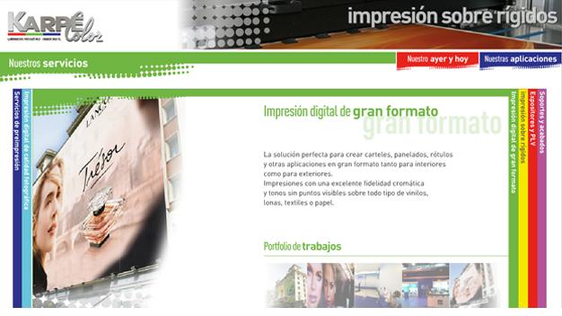 Sitio web karpecolor